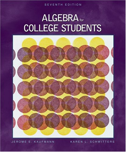 Algebra for College Students (with CD-ROM and InfoTrac) (Available Titles CengageNOW)