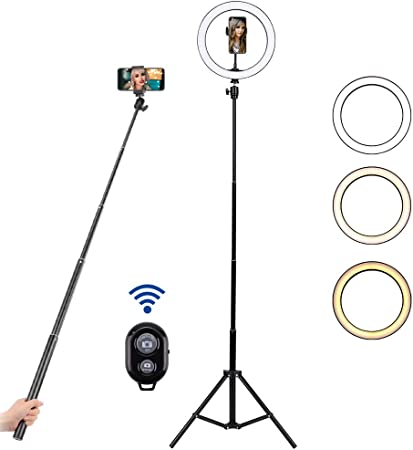 Bloomwin Ring Light 10 Inch Dimmable Ring Light With Camera Photo