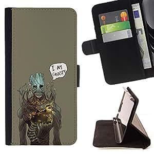 Momo Phone Case / Flip Funda de Cuero Case Cover - Soy Gr00t;;;;;;;; - LG G4 Stylus H540