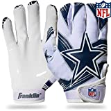 NFL Dallas Cowboys Youth Receiver Gloves,White,Medium