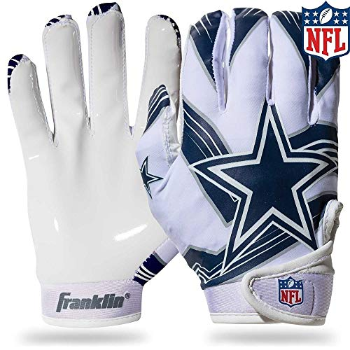(Franklin Sports NFL Dallas Cowboys Youth Football Receiver Gloves - Medium/Large)