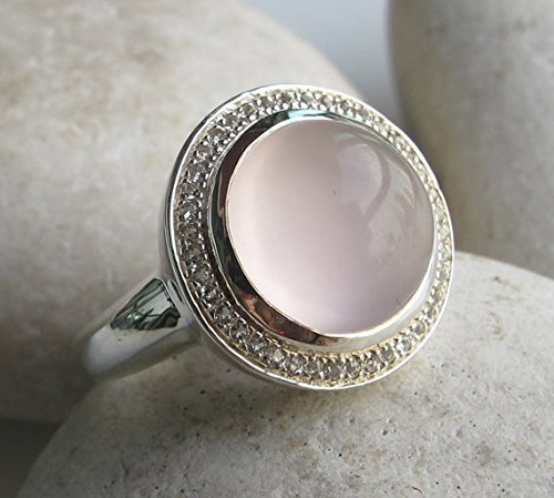 ring rings rose diamonds engagement gold with quartz wedding white