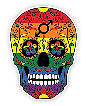Osmdecals rainbow flag sugar skull sticker series 11 day of the dead calavera mexican