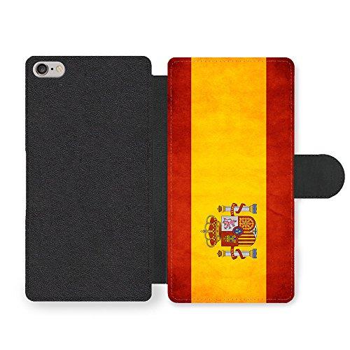 Bandera Leather - Spanish Flag Bandera Espanola Spain Faux Leather case for iPhone 6 6S