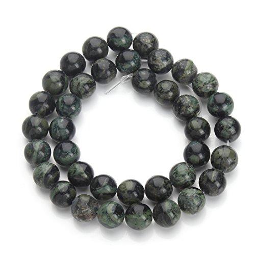 Linsoir Beads Green Cats Eye Beads Chrysoberyl Gemstone Loose Beads 40cm/Strand 8mm