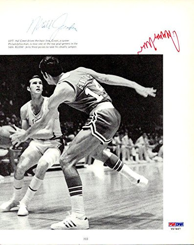 Jerry West & 1 Other Autographed Signed Magazine Page Photo Lakers #V57467 PSA/DNA Certified Autographed NBA Magazines