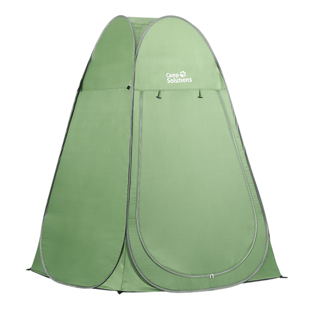 Camp Solutions Pop Up Pod Toilet Tent Privacy Shelter Tent Camping Shower Potable Changing Room, Green by Camp Solutions