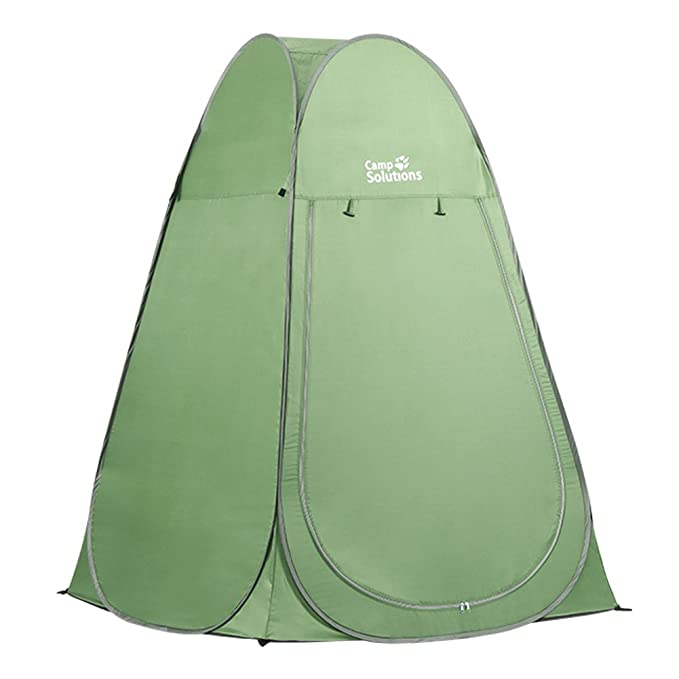 Camp Solutions Portable Pop Up Privacy Shelter Dressing Changing Privy Tent Cabana Screen Room Weight Bag for Camping Shower Fishing Bathing Toilet Beach Park, Carry Bag Included