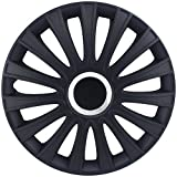 "Alpena 58288 Matte Black 17"" Le Mans Wheel Cover Kit - Pack of 4"