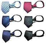 Tiger Mama 6pcs Zipper Tie Pre-tied Necktie Mixed Lot - Set 3