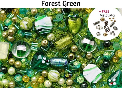 Lucite Leaf Beads 22.5 x 24mm Green 30 Pcs Art Hobby DIY Jewellery Making Crafts