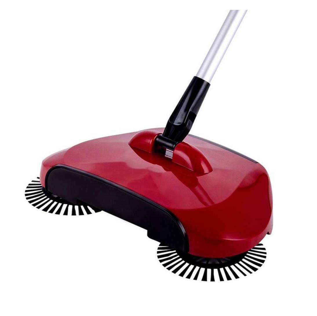 Vovotrade - Scopa girevole a 360°, uso domestico, per pavimento, scopa meccanica 44.1x11.8x7.5 / 112*30*19CM rosso