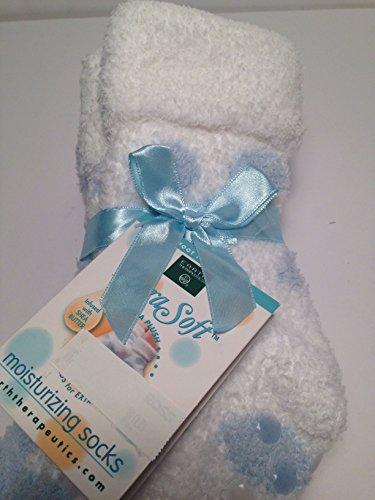 Wollen Chenille-sokjes Voor Dames, Poederblauw / Wit, Doordrenkt Met Sheaboter