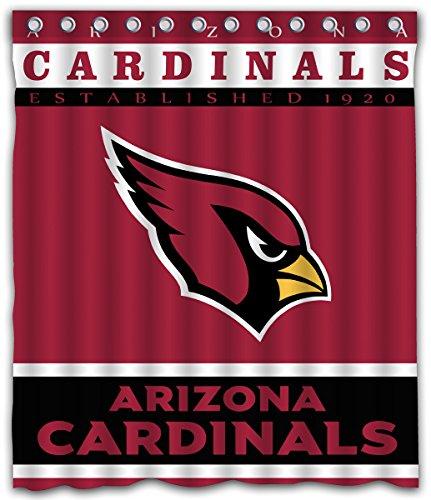 Sonaby Custom Arizona Cardinals Waterproof Fabric shower curtain For Bathroom Decoration (60x72 Inches)