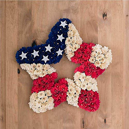 Kirkland's Patriotic Woodchip Star Wreath