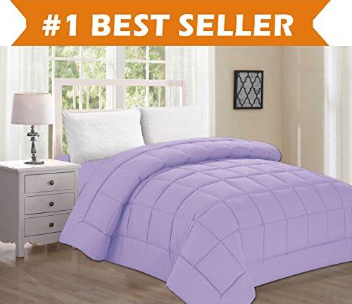 Best Selling Luxury Comforter on Amazon! Elegant Comfort Ultra Plush Down Alternative Double-Filled Comforter %100 HypoAllergenic, Twin/Twin XL , Lilac - Comfort Luxury Plush