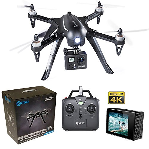 Contixo-F17-Plus-RC-Quadcopter-Racing-Drone-24Ghz-6-Axis-Gyro-4-Channels-4k-Ultra-HD-camera-included-Brushless-Motors-18-min-Flight-Time-2100Mah-Battery-Hardcase-Inc-F17-Plus