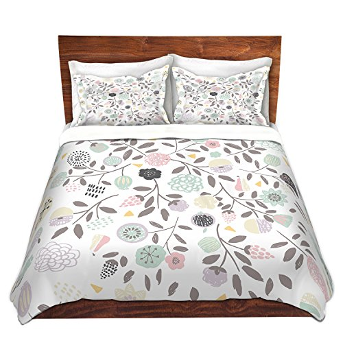 Duvet Cover Brushed Twill Twin, Queen, King SETs from DiaNoche Designs by artist Metka Hiti - Scandinavian Home Decor, Bedroom and Bedding ideas