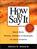 How to Say It, Rosalie Maggio, 0735203342