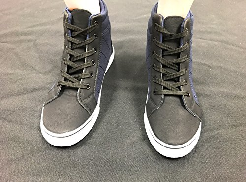 Blue Berry Easy21 Womens High Top Sneaker Di Tela Lace Up Moda Scarpe Basse Denim