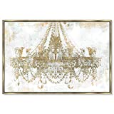 The Oliver Gal Artist Co. Gold Diamonds' Framed Fashion Wall Decor, 36'' x 24'', White
