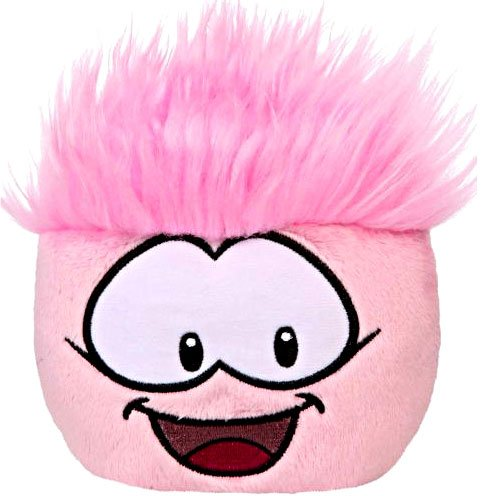 Disney Club Penguin 4'' Pink Pet Puffle -- Series #3 (Pet Series Puffle)