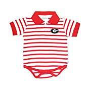 Two Feet Ahead Georgia Bulldogs NCAA College Newborn Infant Baby Striped Polo Creeper (6 Months)