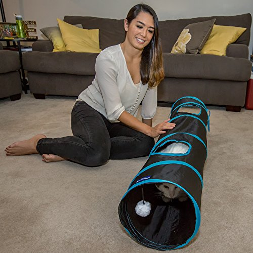 PetLike Deluxe Collapsible Cat Tunnel Toy By Pet Tube For Kittens, Puppies, Rabbits And Other Small-Sized Pets Fun And Durable Hideaway For Entertainment, Training, Exercise And Running by PetLike (Image #5)