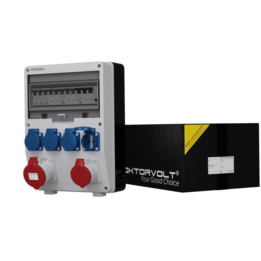 Distribuidor de corriente SEZ TD-S/Fi 1 x 16 A 1 x 32 A 4 x 230 cuadro de distribución 6442: Amazon.es: Industria, empresas y ciencia