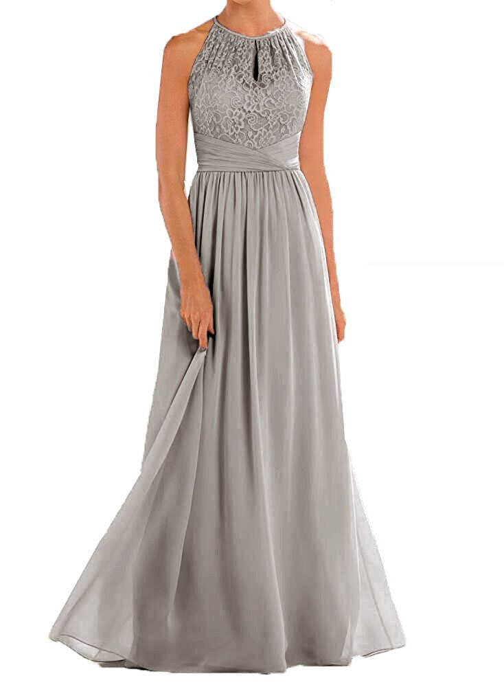 5db0642a366 VaniaDress Women Halter Sleeveless Long Evening Dress Formal Gowns V266LF  Gray US12