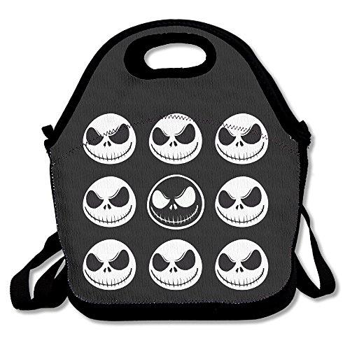 IEUBAG Lunch Bag Jack Skellington Lunch Tote Lunch Box For Women Men Kids With Adjustable Strap (Jack Skellington Tote Bag)
