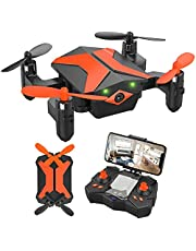 $45 » Drone with Camera Drones for Kids Beginners, RC Quadcopter with App FPV Video, Voice Control, Altitude Hold, Headless Mode, Trajectory Flight, Foldable Kids Drone Boys Gifts Girls Toys