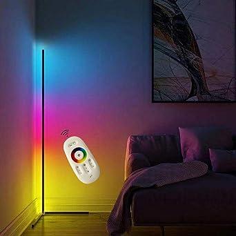 JINGBO LED Stehlampe Ecke Dekoration 10W Wohnzimmer Moderne Vertikales  Leselicht Dimmbar (10 Millionen Farben+Remote Control) Für Schlafzimmer,  Büro