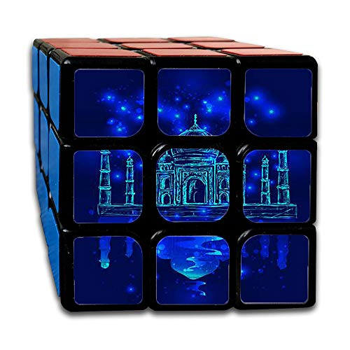 3x3Speed Cube Unusual Image of The taj Mahal in The Night Sky Background Cubic Square (Best Images Of Taj Mahal)