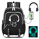 Laptop Backpack, School Bags for Boys Girls, Lightweight Multi-functional Water-resistant Casual Trekking Rucksack, Sports Daypack with USB Charging Port and Headset Port