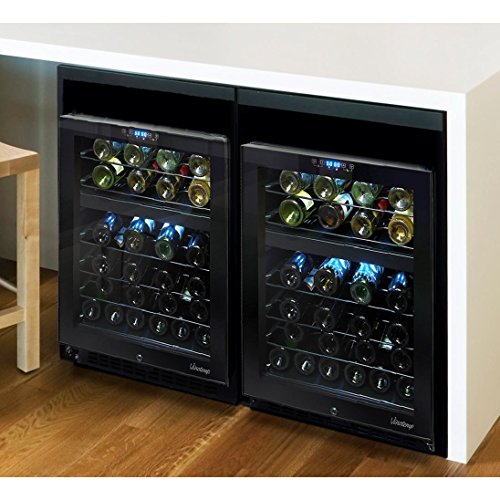 Vinotemp 46 Bottle Dual-Zone Touch Screen Wine Cooler, (Vinotemp Wine Cooler)