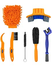 Bike Cleaning Kit 7 Pieces Bicycle Chain Cleaner,Bike Chain Brush Cleaning Kit for Mountain,Road, City, Folding Bike