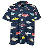 Chevrolet Bel Air Tri Five 1955 1956 1957 Hawaiian Shirt, Navy (M)