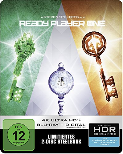 Ready Player One 4k Ultra Hd Steelbook Import Region Free Movies Tv