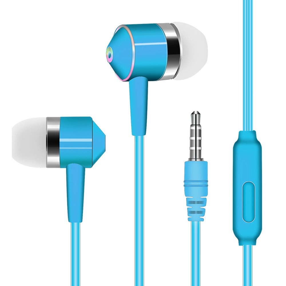 Chenway Over-Ear Gaming Headphones,Wired Piston Dual-Driver Headsets Built-in Mic,3.5mm Connector for iPhone 6/6 Plus, for Samsung S5, S4, for LG, for Xiaomi, for iPad, PC, Laptop, Tablet (Blue)