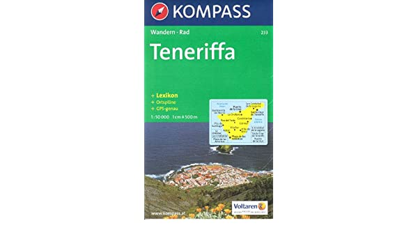 Tenerife 1:50.000 mapa senderismo KOMPASS # 233: Amazon.es ...
