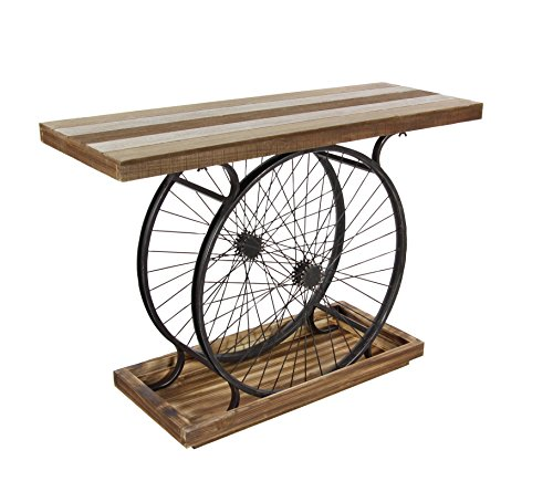 GwG Outlet Metal Wooden Wheel Console 38'W, 28'H 59444