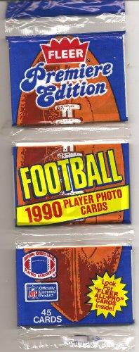 1990 Fleer Football Card Rack Pack - Rich Gannon Rookie Card