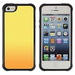 Fuerte Suave TPU GEL Caso Carcasa de Protección Funda para Apple Iphone 5 / 5S / Business Style Sunset Yellow Gold Warm