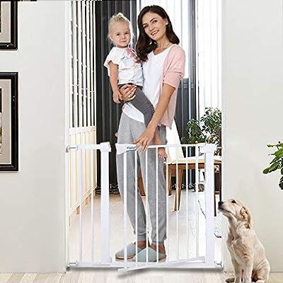 Safety Baby Gate, Auto Close Features?Easy Walk-Thru Child Gate for The House, Stairs, Doorways & Hallways.