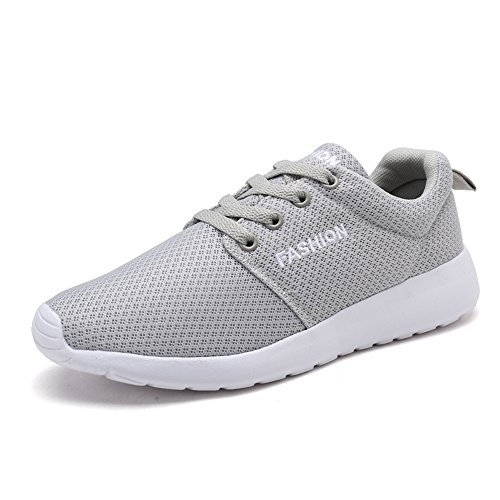 FZDX Fashion Running Shoes for Women Lightweight Breathable Mesh Plat Shoes Grey Ks9933