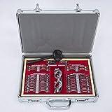 Cozyel Top Quality 104 PCS Trial Lens Set Metal Rim Optometry Box Equipment in Aluminum Case Eyeglass + Trial Frame
