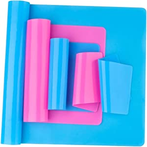 Reusable Silicone Mat Set (A3, A4, A5, A6) for Resin Crafts Jewelry Casting Molds, Food Grade Silicone Placemat, Waterproof Heat-Resistant