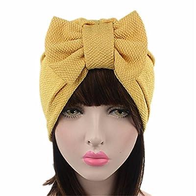 Qhome Womens Luxury Bow Turban Hat Stylish Chemo Cap