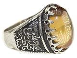 Sterling silver men ring handmade, citrine stone, islamic ring, EXPRESS SHIPMENT